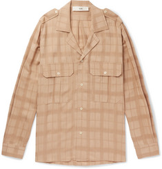 Séfr Jack Camp-Collar Checked Woven Shirt