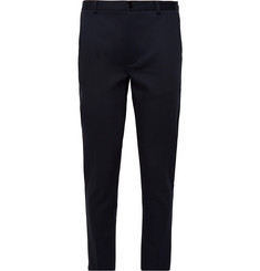 Séfr Navy Harvey Slim-Fit Stretch Cotton-Blend Trousers