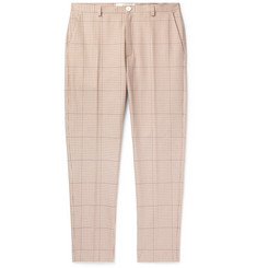 Séfr Slim-Fit Puppytooth Cotton Trousers