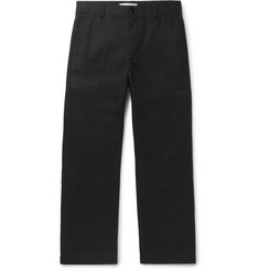 Séfr Charcoal Wide-Leg Cotton Trousers