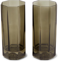 Versace Medusa Lumiere Haze Set of Two Glass Tumblers