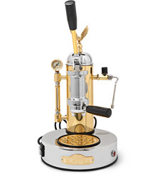 Elektra - Micro Casa Leva S1CO Brass and Chrome Espresso Machine