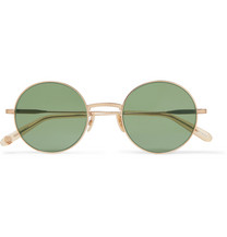 f31c59910b7 Cubitts - Gifford Round-Frame Acetate and Gold-Tone Sunglasses