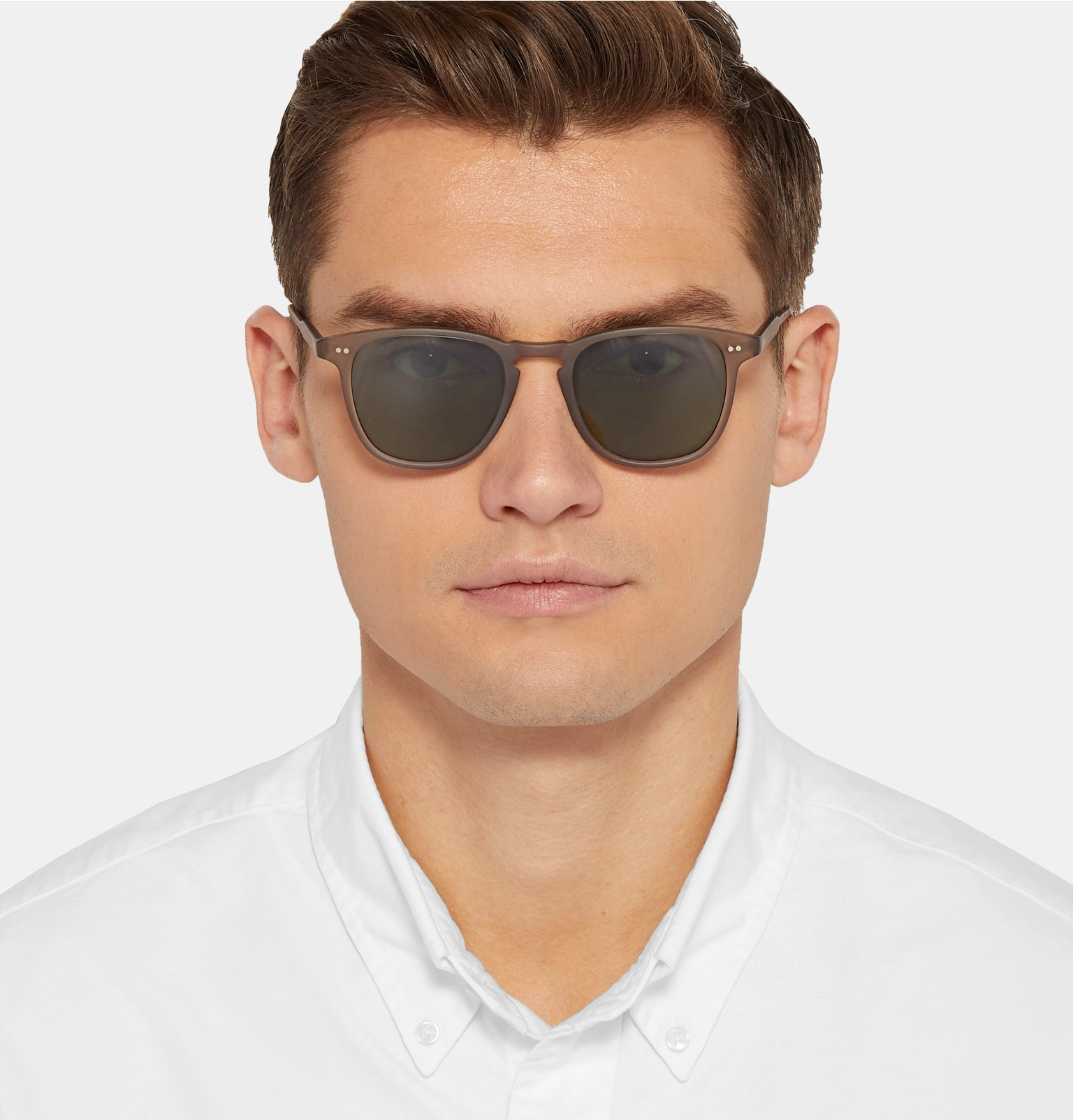 28313d126b4 Garrett Leight California OpticalBrooks 47 D-Frame Matte Acetate Sunglasses