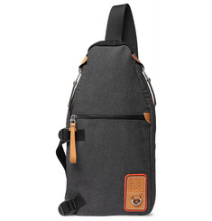 Loewe Eye/LOEWE/Nature Leather-Trimmed Canvas Backpack