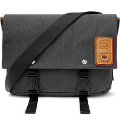 Loewe Eye/LOEWE/Nature Leather-Trimmed Canvas Messenger Bag