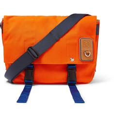 Eln Leather-trimmed Canvas Messenger Bag - Orange