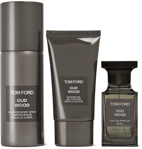 TOM FORD BEAUTY – Private Blend Oud Wood All-over Body Spray, Eau De Parfum And Shower Gel Set – Colorless