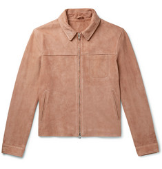 Mr P. - Slim-Fit Suede Blouson Jacket