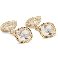 Trianon - 18-Karat Gold Quartz Cufflinks