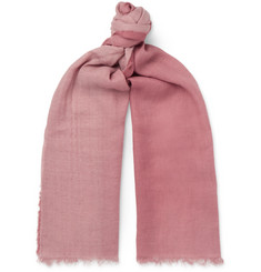 Longhi Fringed Dégradé Woven Scarf - Pink