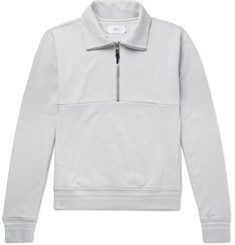 Mr P. Loopback Cotton-Jersey Half-Zip Sweatshirt