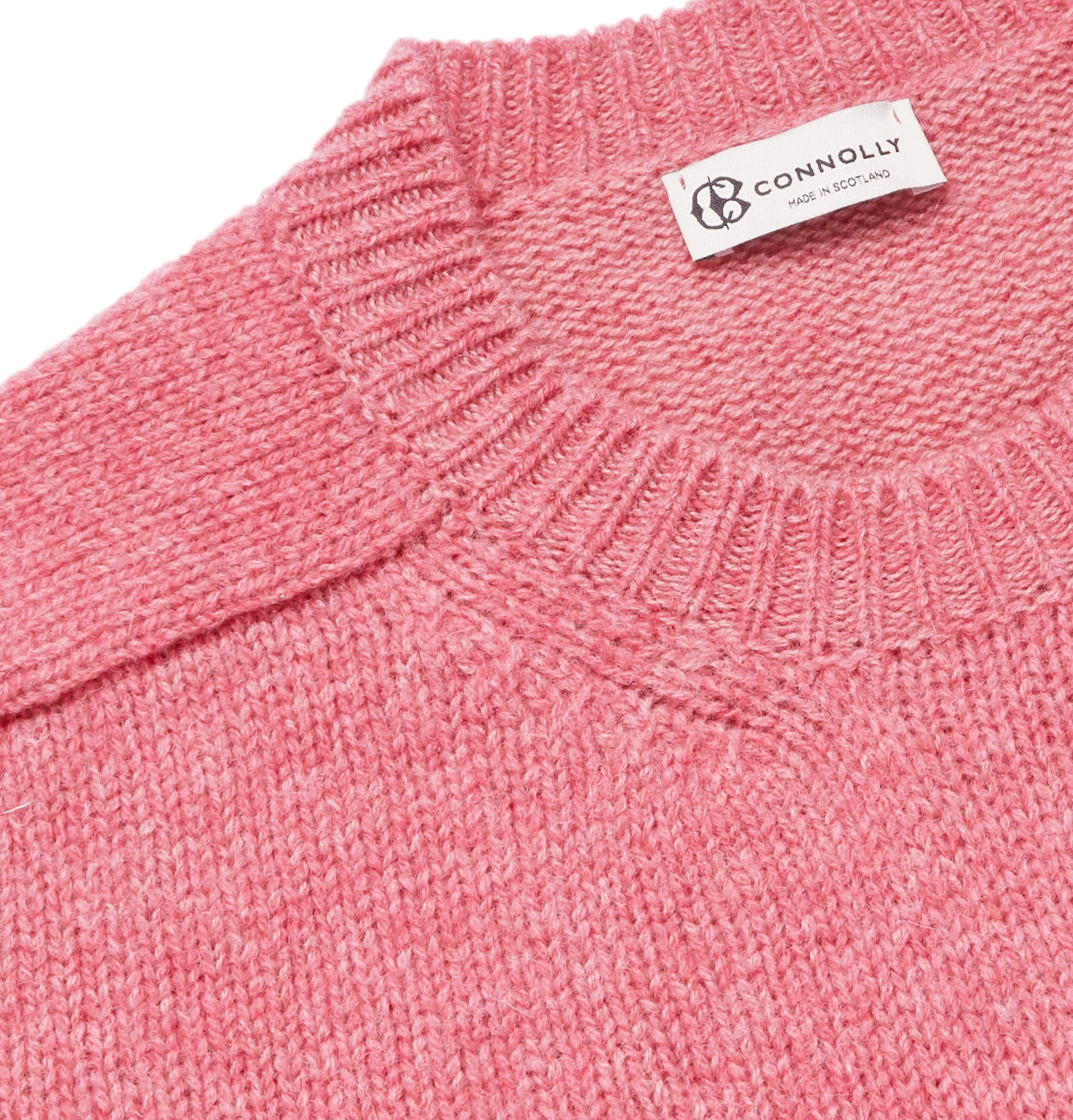 Connolly Mélange Shetland Wool And Cashmere Blend Sweater
