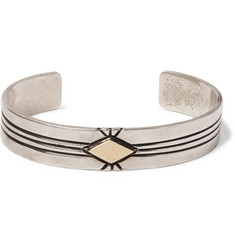 Foundwell J Piaso Sterling Silver and 14-Karat Gold Cuff