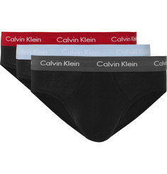 Calvin Klein Underwear Three-Pack Stretch-Cotton Briefs