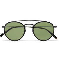 Oliver Peoples - Ellice Round-Frame Metal Sunglasses