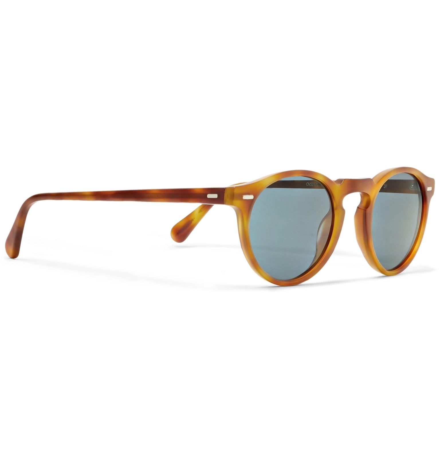 564eb3569a Oliver PeoplesGregory Peck Round-Frame Tortoiseshell Acetate Photochromic  Sunglasses