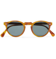 Oliver Peoples Gregory Peck Round-Frame Tortoiseshell Acetate Photochromic Sunglasses
