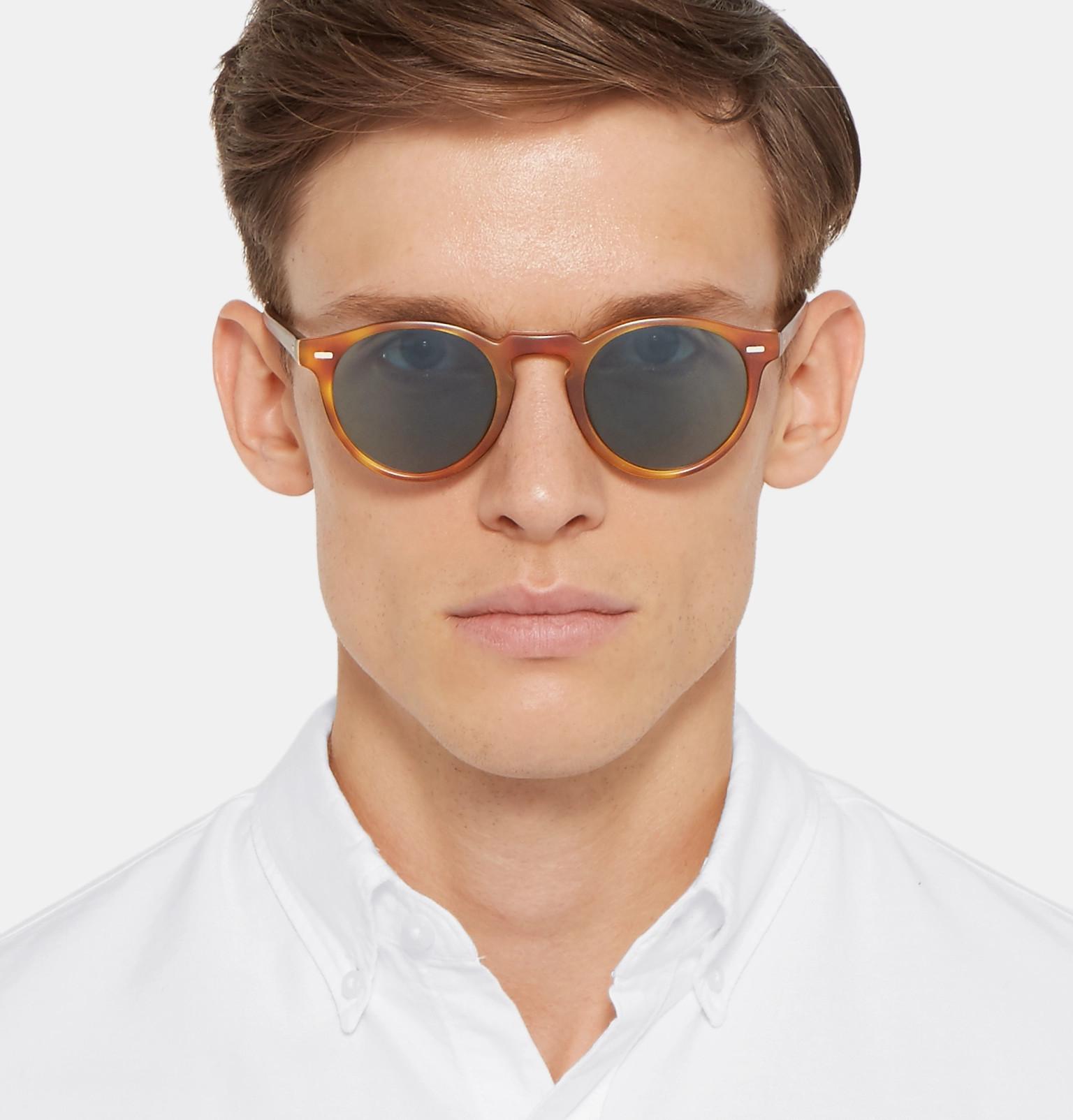 387d6828a0d Oliver PeoplesGregory Peck Round-Frame Tortoiseshell Acetate Photochromic  Sunglasses