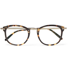 Oliver Peoples OP-506 D-Frame Tortoiseshell Acetate and Burnished Gold-Tone Optical Glasses