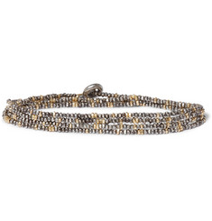 M.Cohen Sterling Silver and 18-Karat Gold Beaded Bracelet