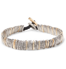 M.Cohen Oxidised Sterling Silver and Gold-Tone Bracelet
