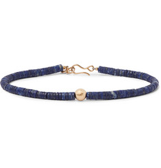 Peyote Bird - Gold and Lapis Bracelet