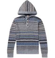 Faherty - Baja Slim-Fit Striped Knitted Hoodie