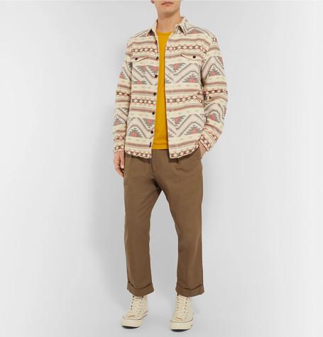 Durango Organic Brushed Cotton Jacquard Shirt Jacket by Faherty