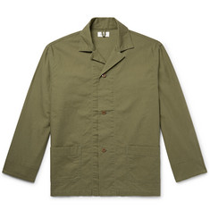 Chimala Camp-Collar Cotton Shirt Jacket