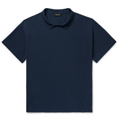 Chimala Collared Cotton-Piqué T-Shirt