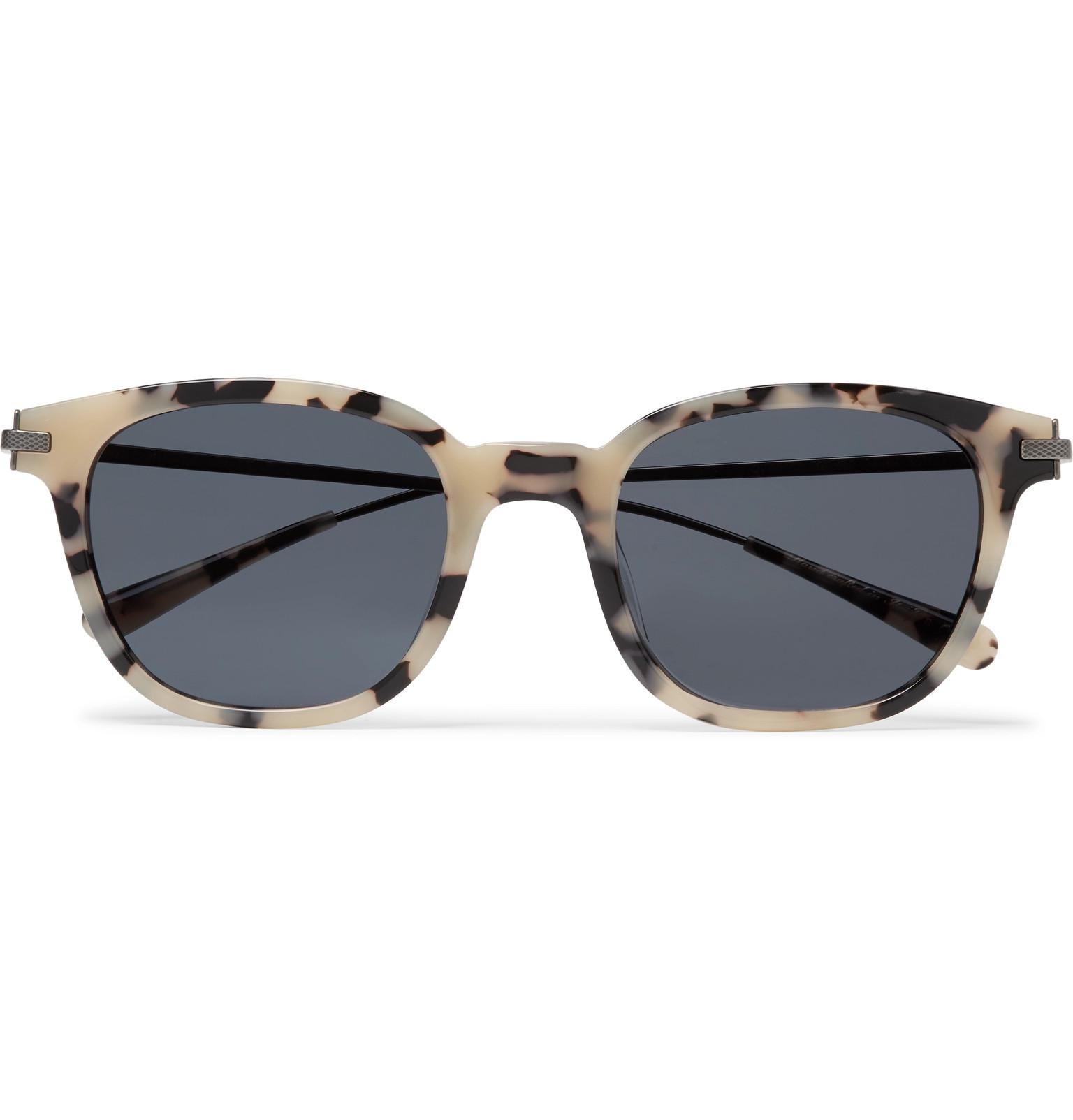 c493203a9194 Berluti+ Oliver Peoples Miami Square-Frame Tortoiseshell Acetate and  Gunmetal-Tone Sunglasses