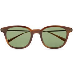 fe47ec63b11 Berluti - + Oliver Peoples Miami Square-Frame Tortoiseshell Acetate and  Gunmetal-Tone Sunglasses
