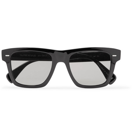 + Oliver Peoples Galleria Square-frame Silver-tone And Acetate Polarised Sunglasses