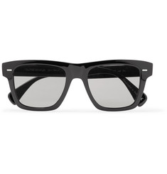 Berluti + Oliver Peoples Galleria Square-Frame Silver-Tone and Acetate Polarised Sunglasses