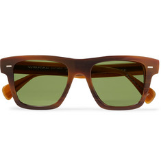 45fbfc05d5fe4 Berluti + Oliver Peoples Galleria Square-Frame Silver-Tone and Acetate  Polarised Sunglasses