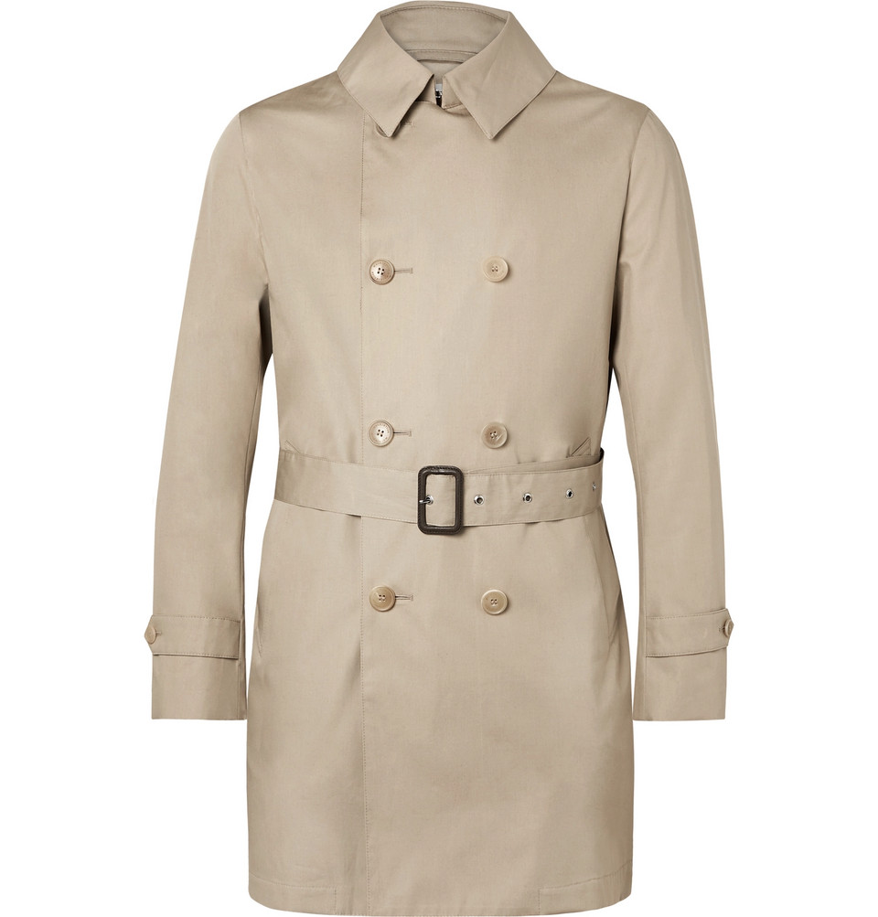 Bonded-cotton Trench Coat - Beige