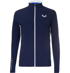 CASTORE - Hampson Mesh-Trimmed Bonded Stretch-Jersey Track Jacket