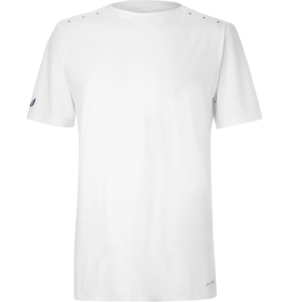 Harlem Stretch-jersey And Mesh T-shirt - White