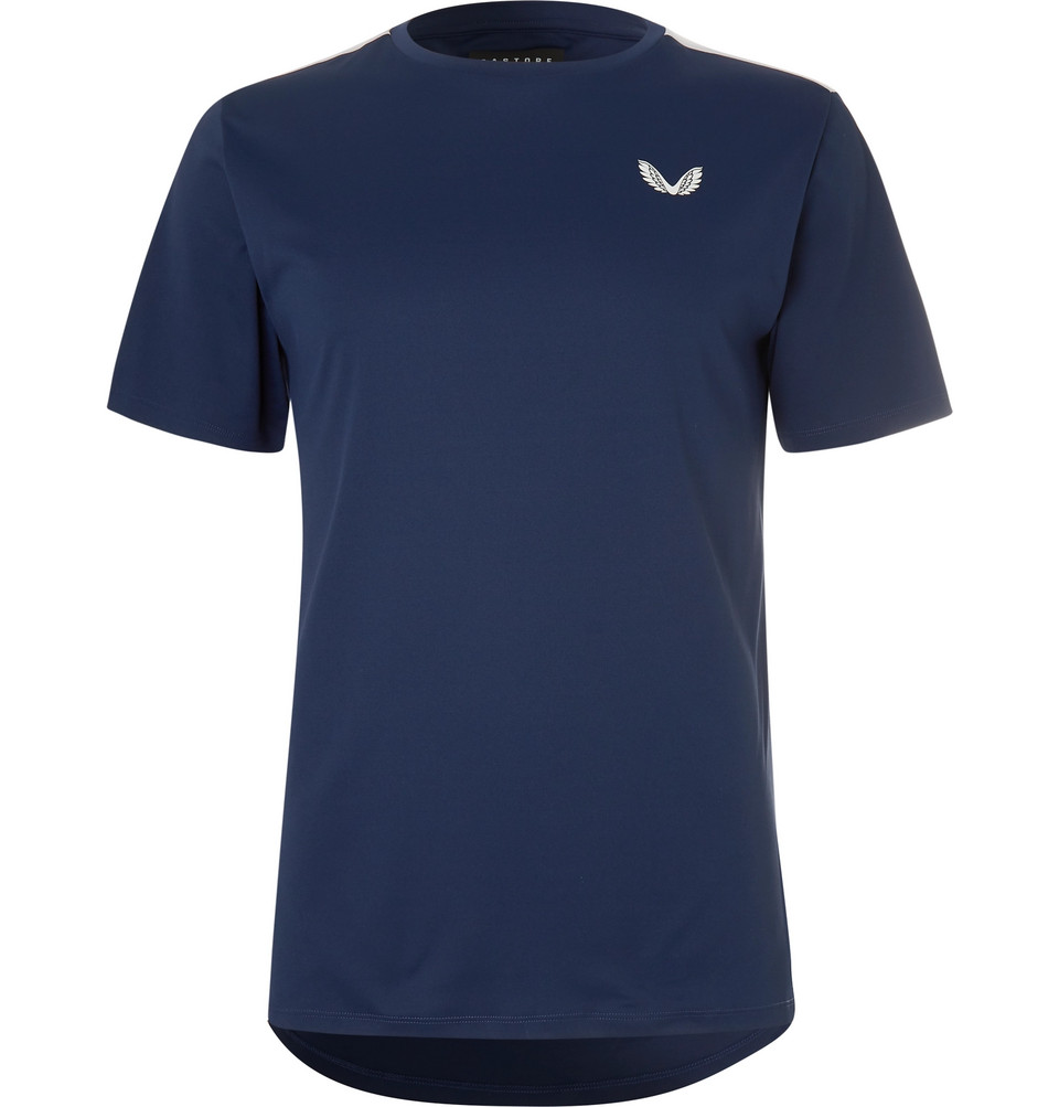 Thomas Stretch-jersey And Mesh T-shirt - Blue