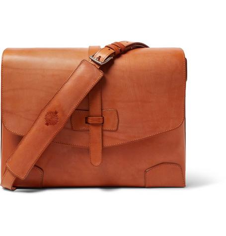 JAMES PURDEY & SONS Sporter Leather Messenger Bag - Tan