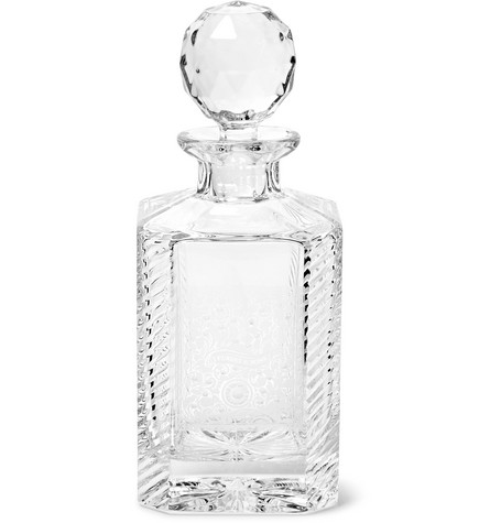 James Purdey & Sons Gun Scroll Engraved Crystal Decanter