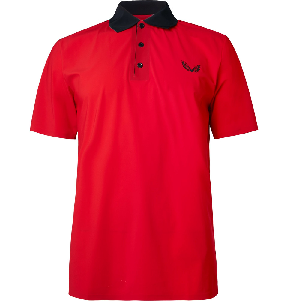 Young Stretch-jersey Polo Shirt - Red