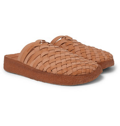 Malibu - Colony Woven Faux Leather Sandals
