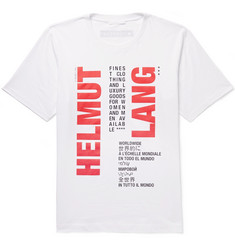 Helmut Lang Slim-Fit Logo-Print Cotton-Jersey T-Shirt