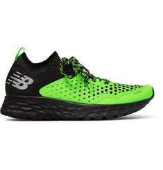 Fresh Foam Hierro V4 Rubber-trimmed Mesh Running Sneakers - Yellow