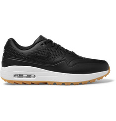 Nike Golf Air Max 1G  Faux Leather and Rubber Golf Shoes