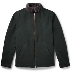 Freemans Sporting Club Reversible Boiled Wool-Blend and Fleece Jacket