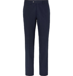 Freemans Sporting Club Navy Cotton-Seersucker Suit Trousers