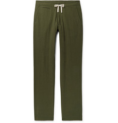 Freemans Sporting Club Slim-Fit Cotton-Seersucker Drawstring Trousers